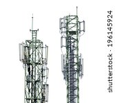 telecommunications tower with...   Shutterstock . vector #196145924