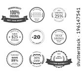 set of e commerce sale labels ... | Shutterstock .eps vector #196147541