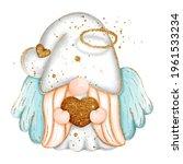 digital paint watercolor angel... | Shutterstock .eps vector #1961533234