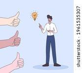 business man have good idea...   Shutterstock .eps vector #1961535307