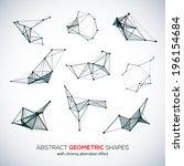 set of abstract vector... | Shutterstock .eps vector #196154684