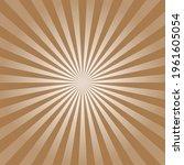 brown sunburst pattern... | Shutterstock .eps vector #1961605054