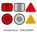 vector safety reflectors red... | Shutterstock .eps vector #196162004