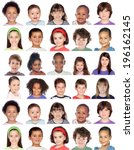 photo collage of children... | Shutterstock . vector #196162145