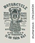 "retro design ""motorcycle repair ... | Shutterstock .eps vector #196164434"