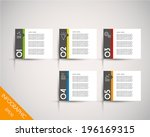 colorful rectangular stickers... | Shutterstock .eps vector #196169315