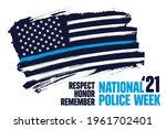 national police week banner... | Shutterstock .eps vector #1961702401