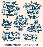 hand drawn retro elements for... | Shutterstock .eps vector #196170245