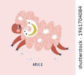 aries zodiac character nursery... | Shutterstock .eps vector #1961704084