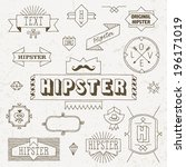vintage hipster hand drawn... | Shutterstock .eps vector #196171019