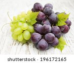 Red And Green  Grapes On A...