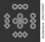 line art symbolising infinity...   Shutterstock .eps vector #1961723437
