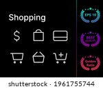 shopping modern line icon...