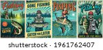fishing vintage posters with... | Shutterstock .eps vector #1961762407
