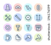 thin line icons for industrial.