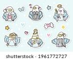 angel gnomes sticker  planner... | Shutterstock .eps vector #1961772727