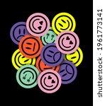 vector emojies sticker pack.... | Shutterstock .eps vector #1961773141