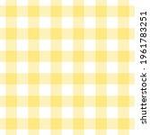 lemon yellow gingham check... | Shutterstock .eps vector #1961783251