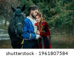 Medieval Couple In Love Man And ...