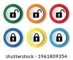 padlock  security vector icons  ... | Shutterstock .eps vector #1961809354