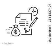 conditions loan or credit  icon ... | Shutterstock .eps vector #1961837404
