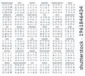 576 modern thin line icons....