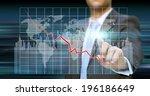 businessman using a digital... | Shutterstock . vector #196186649