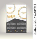 flyer  brochure or magazine... | Shutterstock .eps vector #196186991