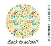 school children background with ... | Shutterstock .eps vector #196187849