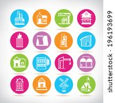 building icons set  building... | Shutterstock .eps vector #196193699