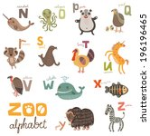 zoo alphabet in vector part 2 | Shutterstock .eps vector #196196465