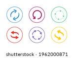 colorful refresh icon set...