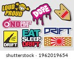 tuner car decals  and stickers... | Shutterstock .eps vector #1962019654