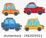 a set of cartoon car vector... | Shutterstock .eps vector #1962029311