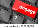 engage button on computer pc... | Shutterstock . vector #196208339