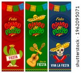 cinco de mayo banners set for...   Shutterstock .eps vector #1962095071