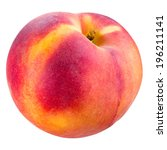 Peach Isolated On White. With...