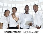 four african business people... | Shutterstock . vector #196212809