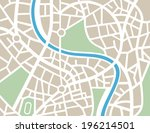 abstract city map | Shutterstock .eps vector #196214501