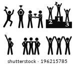 winner celebration champion... | Shutterstock .eps vector #196215785