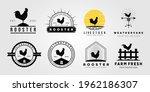set rooster chicken livestock...   Shutterstock .eps vector #1962186307