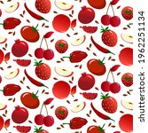 pattern with red vegetables and ...