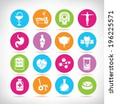 medical icons  colorful buttons | Shutterstock .eps vector #196225571