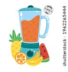 electric juicer. a concept for...   Shutterstock .eps vector #1962265444
