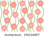 pink flower blooming pattern on ... | Shutterstock .eps vector #196226897