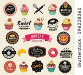 collection of vintage retro... | Shutterstock .eps vector #196228361