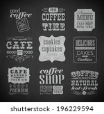 retro bakery label  typography  ... | Shutterstock . vector #196229594