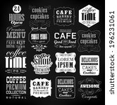retro coffee  labels and... | Shutterstock . vector #196231061