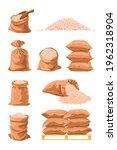 textile sacks full of rice... | Shutterstock .eps vector #1962318904