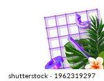 minimal banner with 3d render...   Shutterstock .eps vector #1962319297